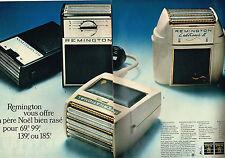 PUBLICITE  1966   REMINGTON   rasoir éléctrique  ( 2 pages)