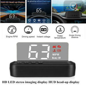 C100 Universal Car SUV LED OBD Speed Water Temperature HUD Head-up Projector Kit