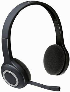 Logitech H600 Over-The-Head Wireless Computer Headset  981-000341 Black / White