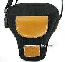 QUANTARAY Holster Style CAMERA BAG+Pocket~Shoulder Strap +Waist Pack BLACK XLNT!