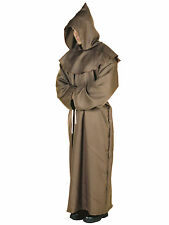 Monk Robe Priest Friar Tuck Medieval Robin Hood Deluxe Men Costume XXL Plus