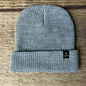 Chaos One Size Wool Blend Grey Beanie Hat NWOT