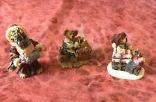 Boyds Village Accessory - Ted E. Bear Shop set #19501-2 Nib cute! 3 bears