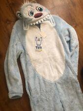 Yeti Abominable Snowman Monster Men's L 42 44 Union Suit Pajama Costume New