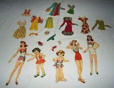1945 Merrill Co. Cardboard Dolls, Paper Doll Clothes 20 Piece Read! Lot #11