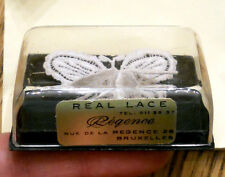Regence Belgian Lace Butterfly Pin 3D Wings Original Box Bruxelles ✿ True VTG