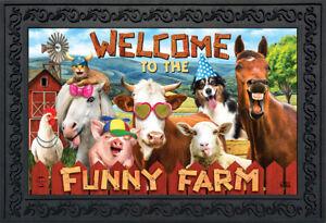 "Funny Farm Summer Doormat Indoor Outdoor 18"" x 30"" Briarwood Lane"