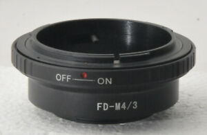 Adapter to use Canon FD lenses on M4/3 digital cameras, appears unused