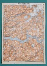 NORWAY Sognefjorden Skei Forde Orknevik Stolsheimen Vik - 1912 Baedeker Map
