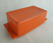 Vintage Nally Ware Melamine Butter Dish Orange Colour
