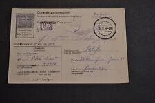 carte censure 1944 prisonnier de guerre pour constantine