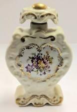 Vintage Vanity porcelain fancy Perfume bottle Ligne Limoise Flowers Stopper