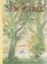 COVER ONLY New Yorker magazine   May 7 1979 ~ Sempé Sempe ~ Tandem bikers biking