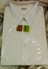 Camicia uomo vintage NUOVA bianca classica colletto a punta Cassera collo 41