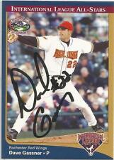 Minnesota Twins DAVE GASSNER autographed 2004 International League All-Stars