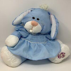 Fisher-Price 1986 Blue Puffalump Bunny Rabbit Stuffed Plush Toy - READ DETAILS