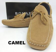 Men's BONAFINI grey camel navy suede loafers slip on shoes style F-304