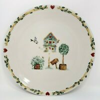 Thomson Pottery BIRDHOUSE Dinner Plate Set of 2