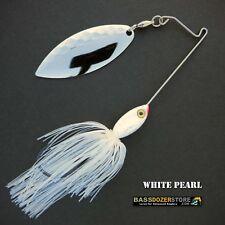 Bassdozer spinnerbaits SHORT ARM 3/8 oz C. WHITE PEARL spinner bait lures