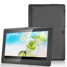 "7"" Black Android Tablet 8GB ROM Quad Core 4.4 Dual Camera Wifi Bluetooth HD Tab"