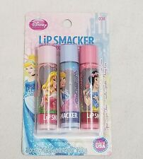 Disney Princess 3 Pack Lip Smackers Spun Sugar Vanilla Berry Bonnie Bell New