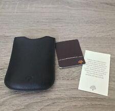 Mulberry Téléphone Portable en Cuir Noir Case Cover Housse Blackberry porte-carte NEUF