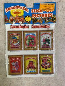 Vintage 1986 Garbage Pail Kids Sealed Imperial 6 Set Puffy Sticker Sheet NIP #2