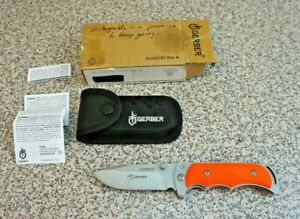 Gerber Freeman RMEF Linerlock Rubber Handles Pocket Folding Knife New!