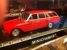 FORD TAUNUS P5 BREAK TURNIER 1964  1/43 MINICHAMPS RED