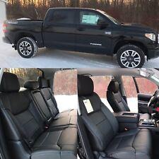 2014 17 18 Toyota Tundra Crew Max Katzkin Black Leather Seats SR5 TRD 2015 2016