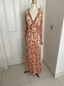 Ghost London Retro Floral  Maxi Dress - Size  XS RRP £185