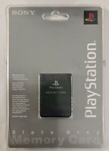 PS1 Memory Card Brand New Sealed PLAYSTATION 1 Slate Grey  SCPH-1020 RARE