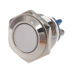 AC 250V 3A NO 16mm Interruptor de boton pulsador redondo momentaneo del meta PB