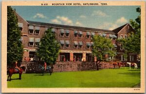 Gatlinburg, Tennessee Postcard MOUNTAIN VIEW HOTEL Asheville Linen c1940s Unused