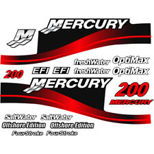 Mercury Outboard Decal Sticker Kit 200 HP Red