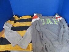 GAP KIDS~Lot of 2 LONG SLEEVE TEES T-SHIRTS~~Gray Yellow Navy Green~Boys Large