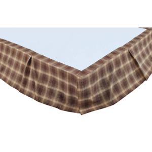 Dawson Star King Inverted Pleat Bed Skirt 78x80x16 Woodland Brown Khaki Lodge