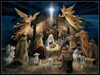 The Nativity  - Chart Counted Cross Stitch Patterns Needlework DIY DMC Color