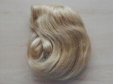 Puppenperücke Echthaar blond Kopfumfang 31 - 33 cm  NEU
