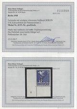 Berlin 20 Pl. Nr. postfrisch Befund Schlegel BPP