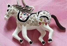 Enamel horse Pendant Long Necklace Betsey Johnson Beautiful fashion Crystal