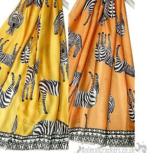 African style lightweight Zebra Scarf Sarong wildlife safari animal lover gift