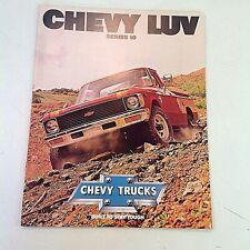 Vintage 1979 Chevrolet CHEVY LUV Series 10 Truck Informational Sales Brochure