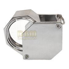 HEXA CHROME 21mm 10x Magnification Diamond Loupe Loop Magnifier Glass Jewelers
