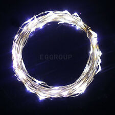 White 3M 30 LED Battery Power Cooper Wire String Fairy Light Christmas DIY Lamp