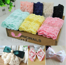 1 Yard Scalloped Double Edge Blossom Cotton Embroidered Lace Trim Ribbon Craft