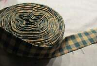 Quilt Binding Single Fold 15 yds #401 Green and Tan Homespun Cotton Fabric