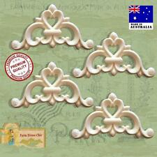 4 x Shabby French Chic Furniture Resin Appliques Vintage Decor Art Moldings