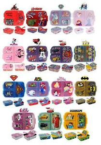 Latest 2021 Design School Kids Character Sandwich Lunch Snack Box-3 Compartment