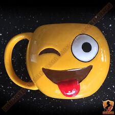 Taza de Cerámica emoji Emoti Té Café Taza juego LOL guiño Novedad Caja de Regalo Nuevo